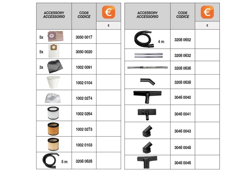 cv 20 - 30 x optional accessories Comet