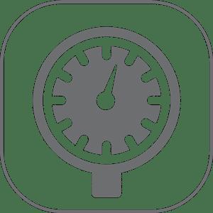 Glycerine filled pressure gauge Comet Icon