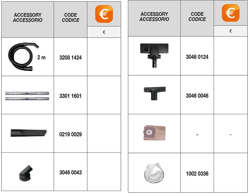 cvp 112 quiet accessori standard