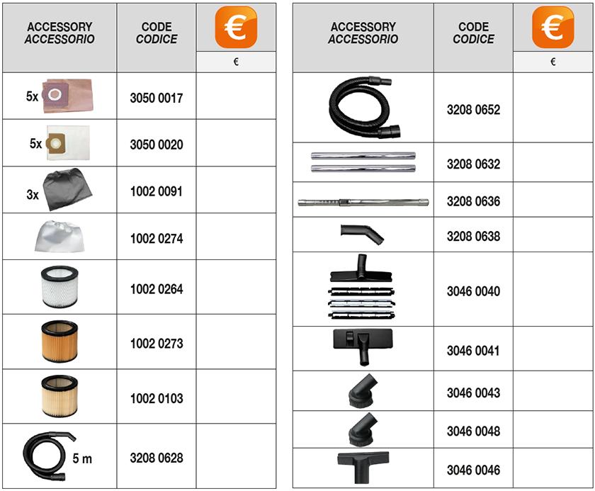 CVP 120 P ECO accessori optional