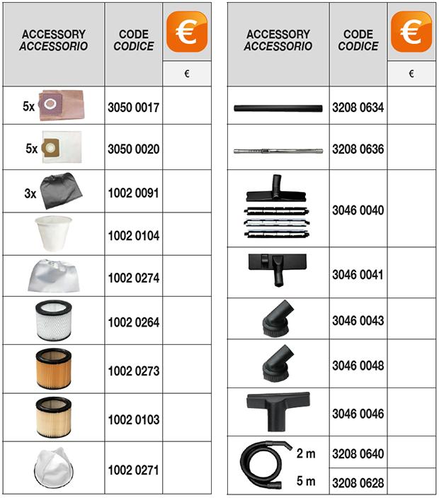 cv 20 xe optional accessories Comet